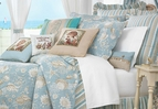 Natural Shells Aqua Beach Quilt