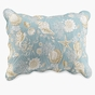Natural Shells Aqua Quilted Standard Sham