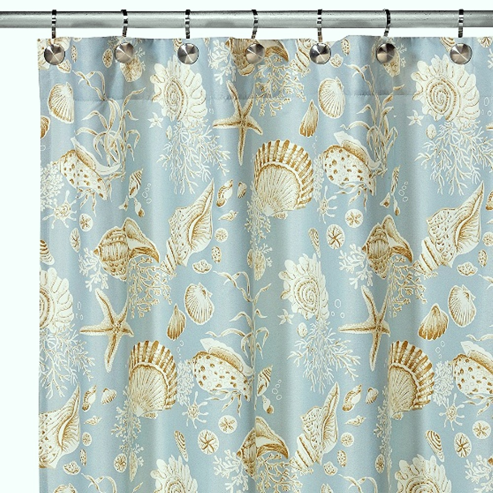Natural Shells Shower Curtain Tap To Expand