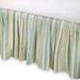 Natural Shells Aqua Striped Dust Ruffle