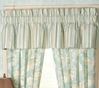 Natural Shells Aqua Striped Valance