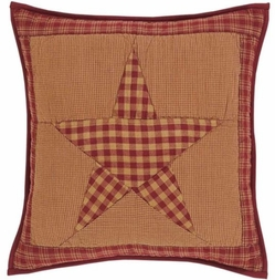 "NinePatch Star Quilted 16"" Accent Pillow"
