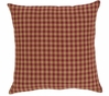 "NinePatch Burgundy Check Fabric 16"" Accent Pillow"