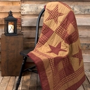 NinePatch Star Quilted Throw by VHC Brands