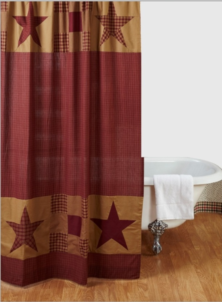 NinePatch Star Shower Curtain By VHC Brands Tap To Expand