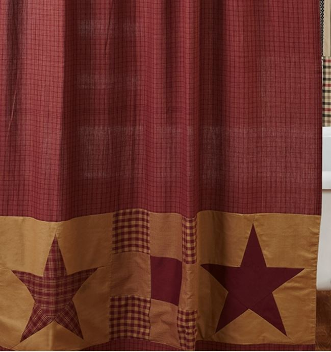 Star Shower Curtain by VHC Brands