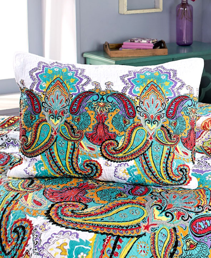 by cavanaugh quilt p bedding quilts waterford paisley linens sunset comforter set