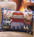 Noah's Ark Needlepoint Pillow