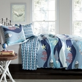 Ocean Blue Starfish Quilt Set
