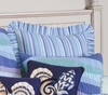 Ocean Waves Blue Stripe Euro Sham