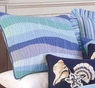 Ocean Waves Blue Standard Sham