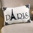 Paris Eiffel Tower Embroidered Pillow