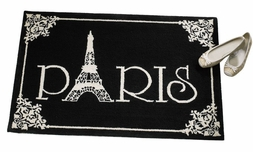 Paris Eiffel Tower Hooked Wool Rug
