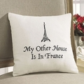 Paris My Other House French Pillow
