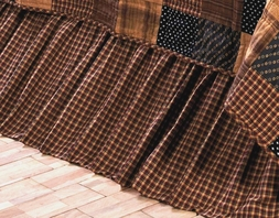 Patriotic Patch Plaid Bedskirt