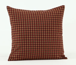 Patriotic Patch Plaid Fabric Accent Pillow