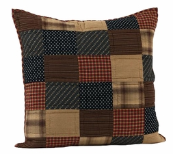 Patriotic Patch Quilted Euro Sham