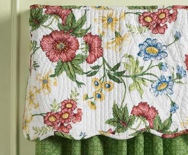 Pembroke Floral Quilted Valance by Williamsburg (1 LEFT) : quilted valances - Adamdwight.com