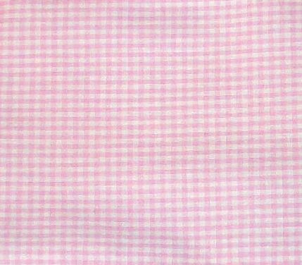 pink gingham check bedskirt