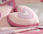 Pink Valentine Heart Accent Pillow