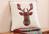 Plaid Deer Antler Pillow