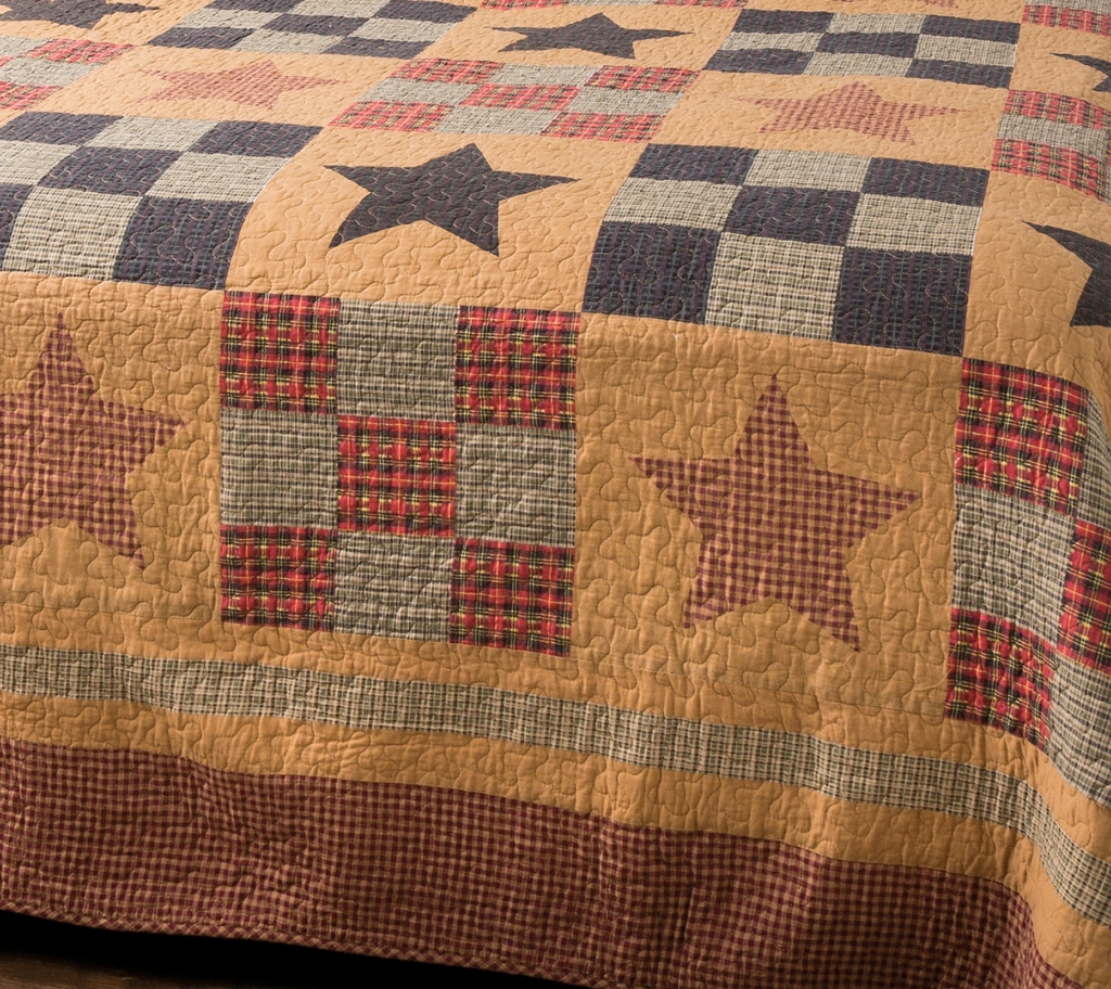Prairie Star Primitive Quilt Set