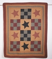 Prairie Star Primitive Quilted Throw