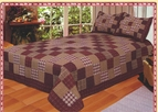 Primitive Country Squares Quilt Set