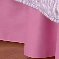 Solid Bubble Gum Pink Bedskirt Dust Ruffle