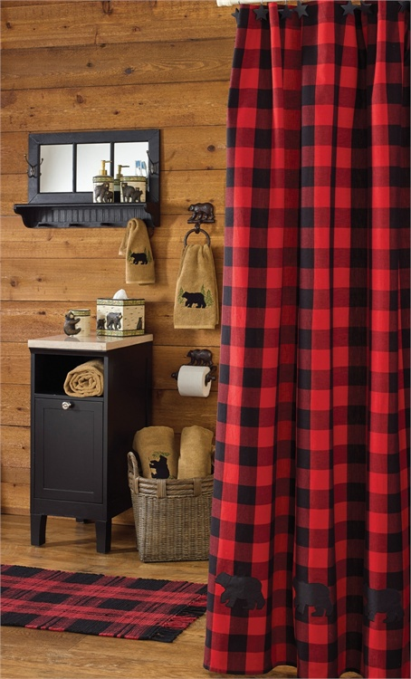 Black Bear Shower Curtain Tap To Expand