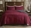 Red Buffalo Check Cabin Quilt Set