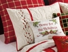 Red Berry Wreath Embroidered Standard Sham