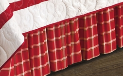 Christmas Red Plaid Bedskirt