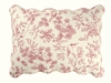 Red Toile Evergreen Standard Sham