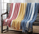 Red, Yellow, or Blue Stripe Woven Throws