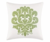 Rice Stitch Green Embroidered Pillow