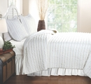 Ruffled Rag Quilt Set - White