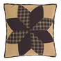 "Rustic Country Black Star 16"" Accent Pillow"