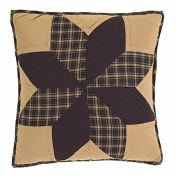 """Rustic Country Black Star 16"""" Accent Pillow"""
