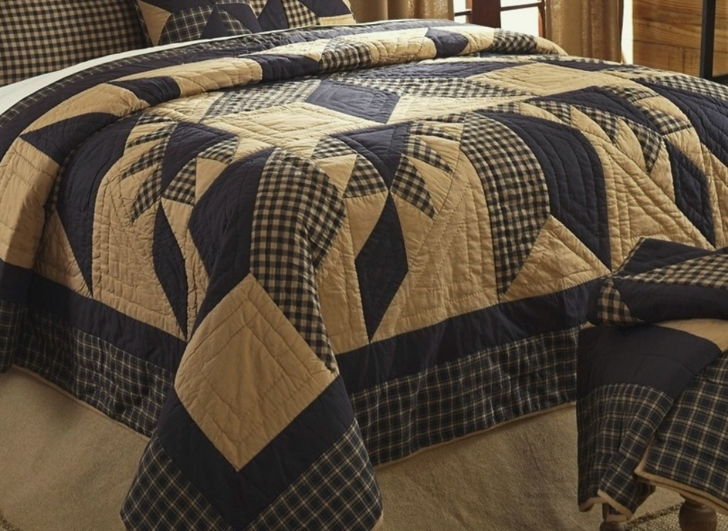 Rustic Country Black Star Quilt : country star quilt - Adamdwight.com