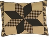 Rustic Country Black Star STANDARD SHAM