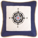 Sail Away Compass Pillow