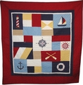 Sail Away Nautical Throw