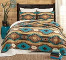 Sante Fe Turquoise Southwestern Quilt