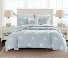 Seaside Blue Beach House Quilt Set