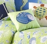 Under the Sea Blue Shell Pillow