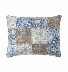 Siena Blue Patch Standard Sham
