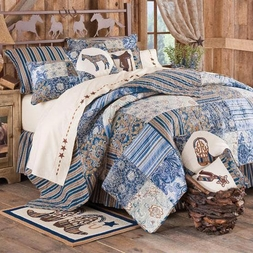 Siena Blue Patch Quilt Set