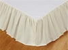 Solid Cream Bedskirt