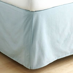 Solid Light Blue Bedskirt